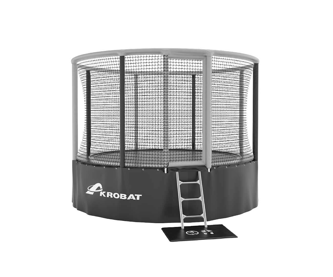 Akrobat Gallus Grey-black enclosure /Black safety pad/ Grey jumping mat