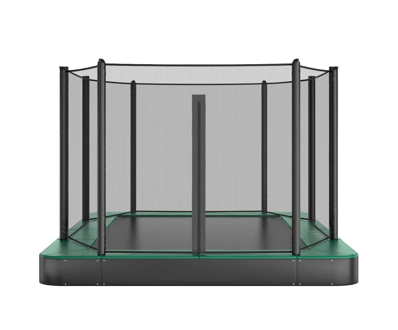 Akrobat Orbit Flat Green safety pad/Black jumping mat