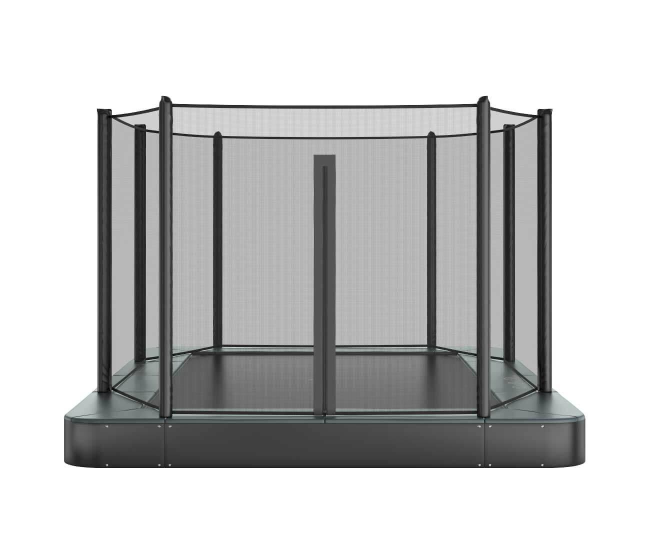 Akrobat Orbit Flat Grey safety pad/Black jumping mat