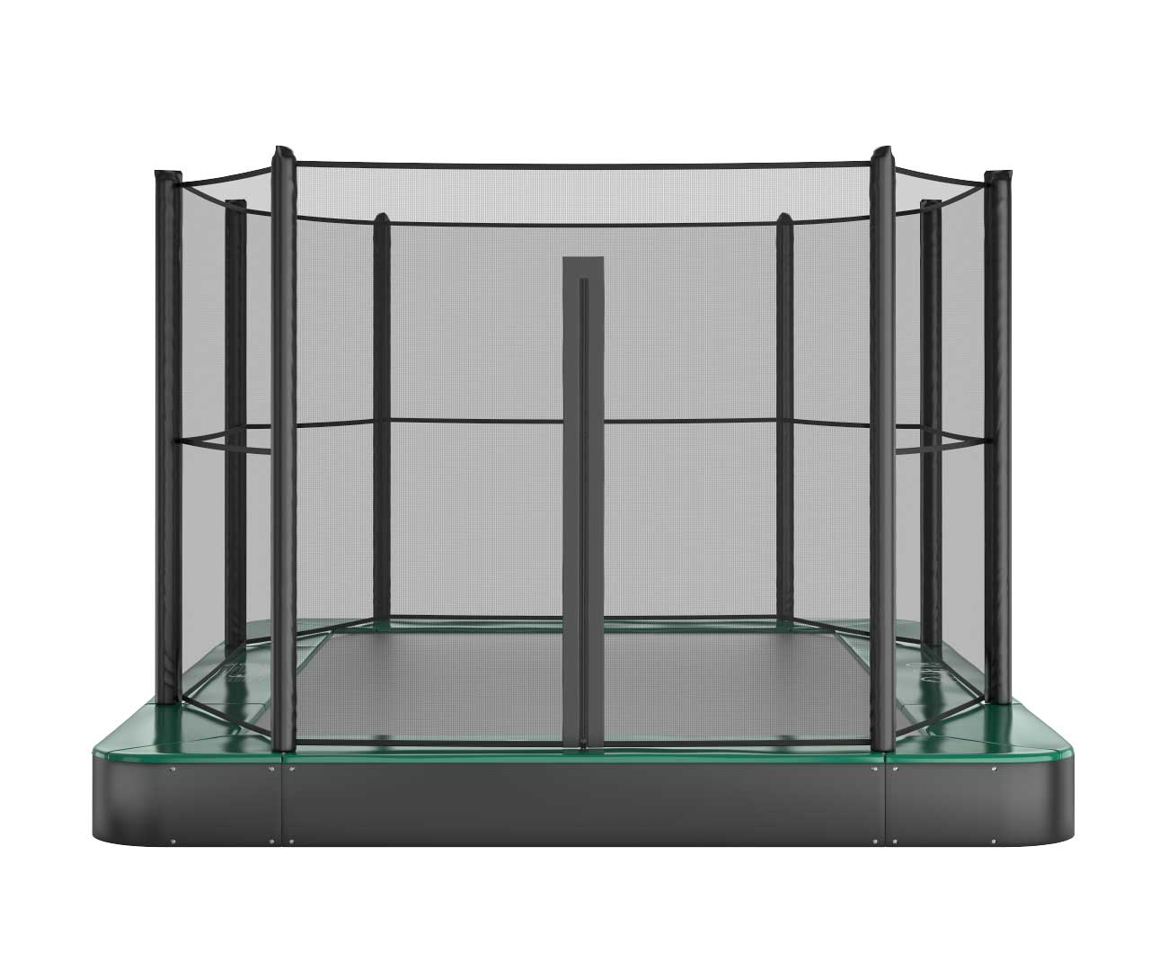 Akrobat Primus Flat 14x10 Green safety pad/Black jumping mat