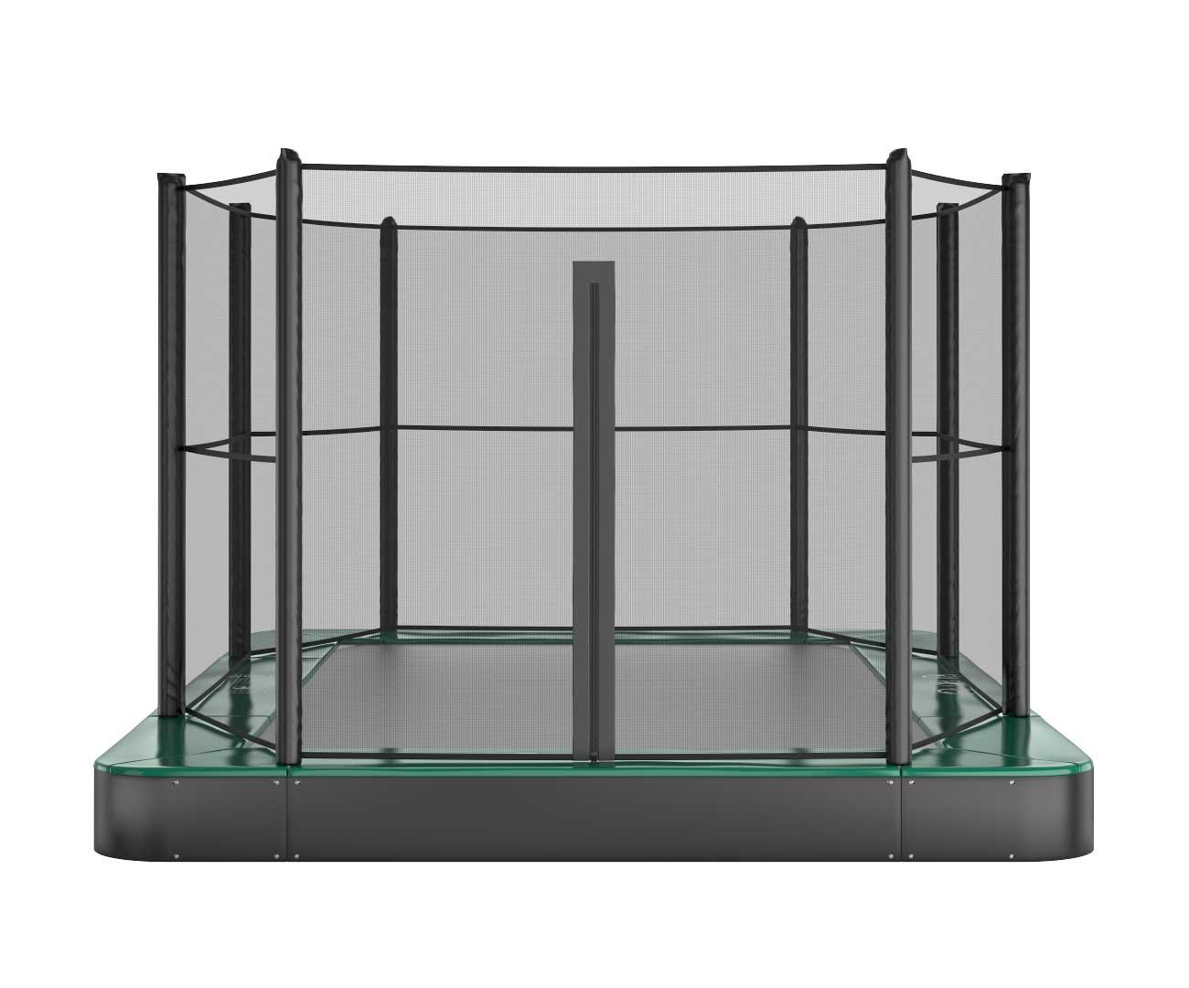 Akrobat Primus Flat 11x8 Green safety pad/Black jumping mat