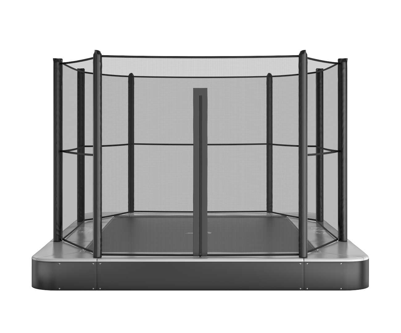 Akrobat Primus Flat 14x10 Grey safety pad/Black jumping mat