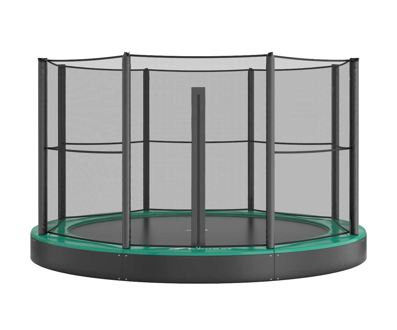 Akrobat Primus Flat 14  Green safety pad/Black jumping mat