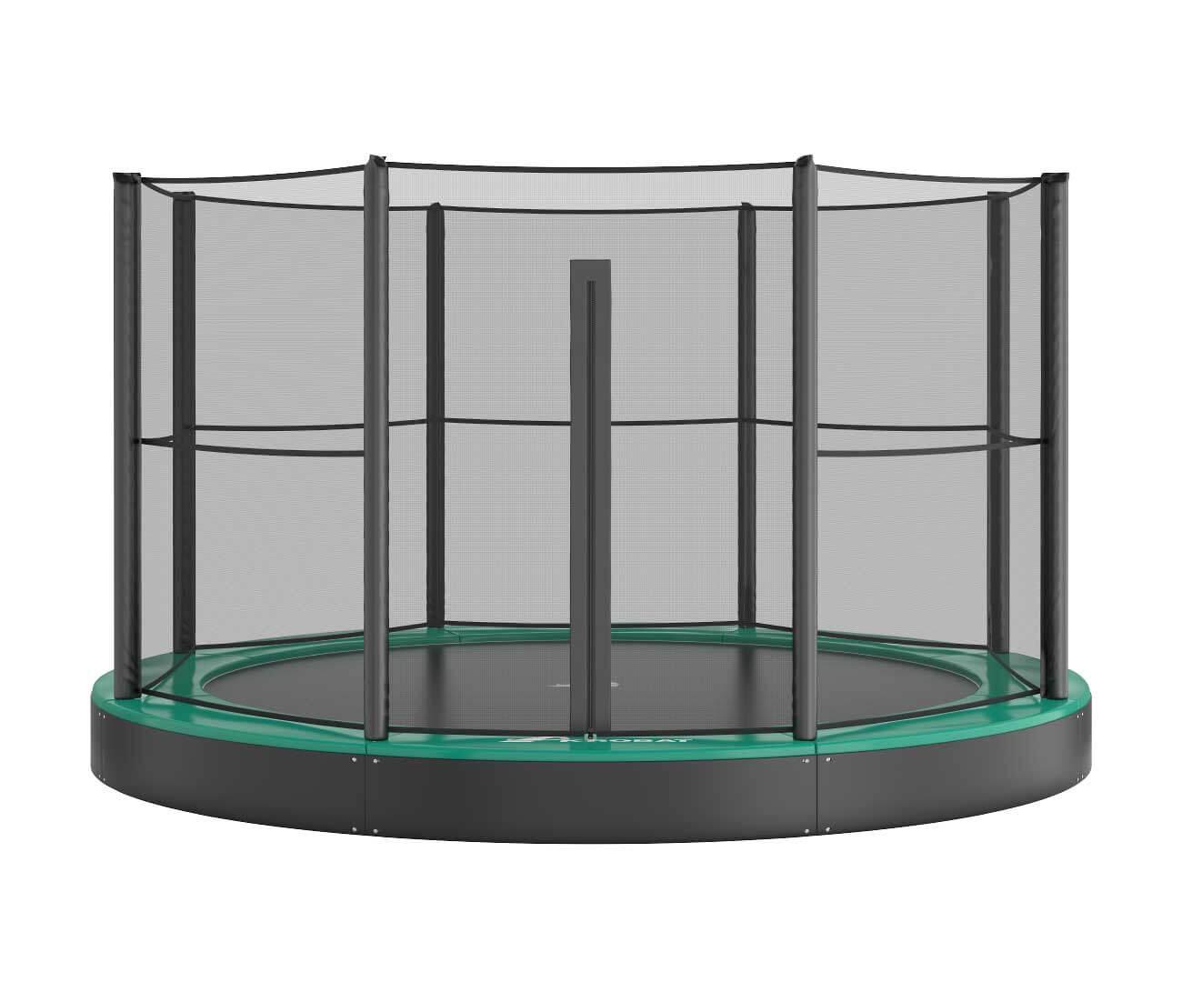Akrobat Primus Flat 10 Green safety pad/Black jumping mat