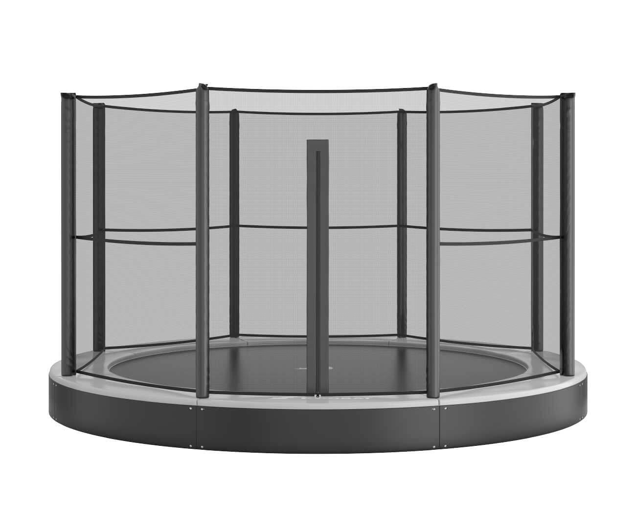 Akrobat Primus Flat 12 Grey safety pad/Black jumping mat