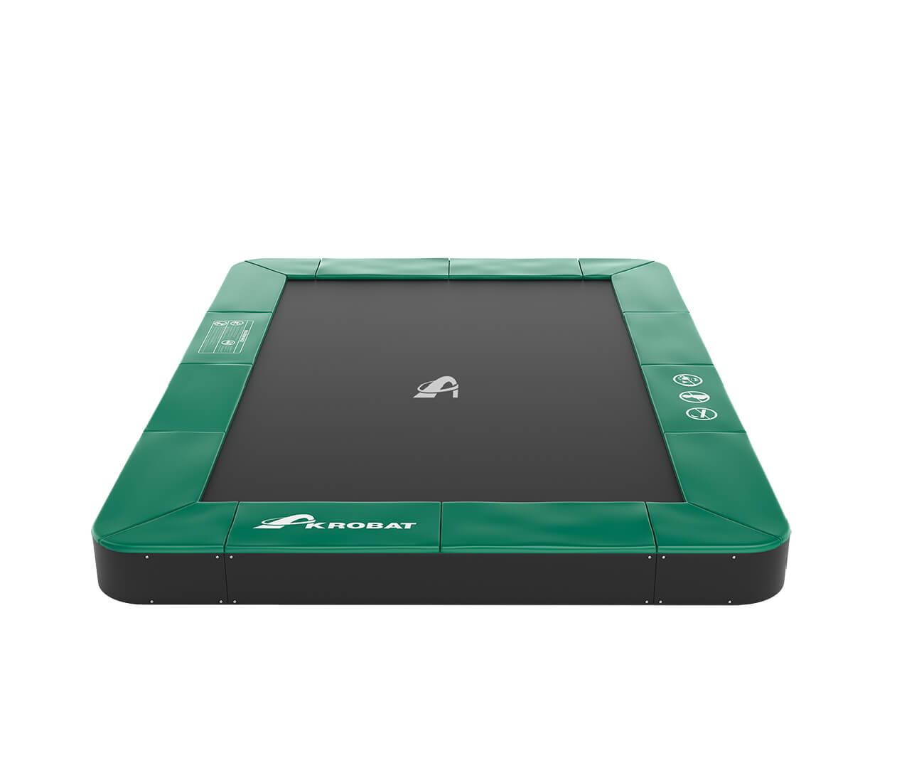 Akrobat Primus Premium 14x10 Green safety pad/Black jumping mat