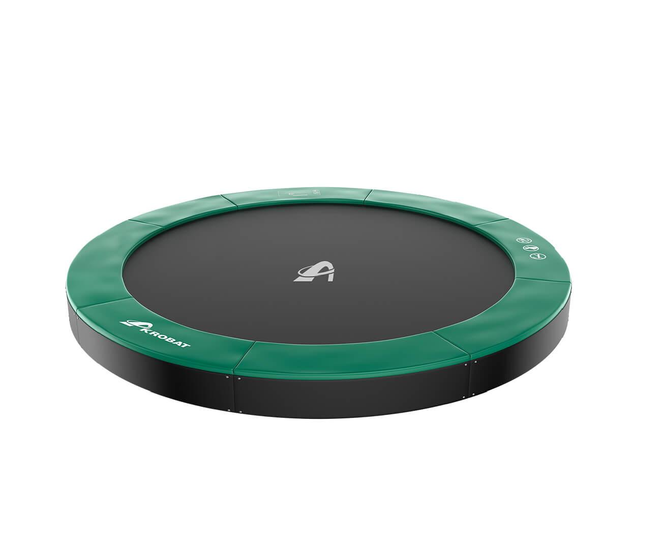 Akrobat Primus Premium 8 Green safety pad/Black jumping mat