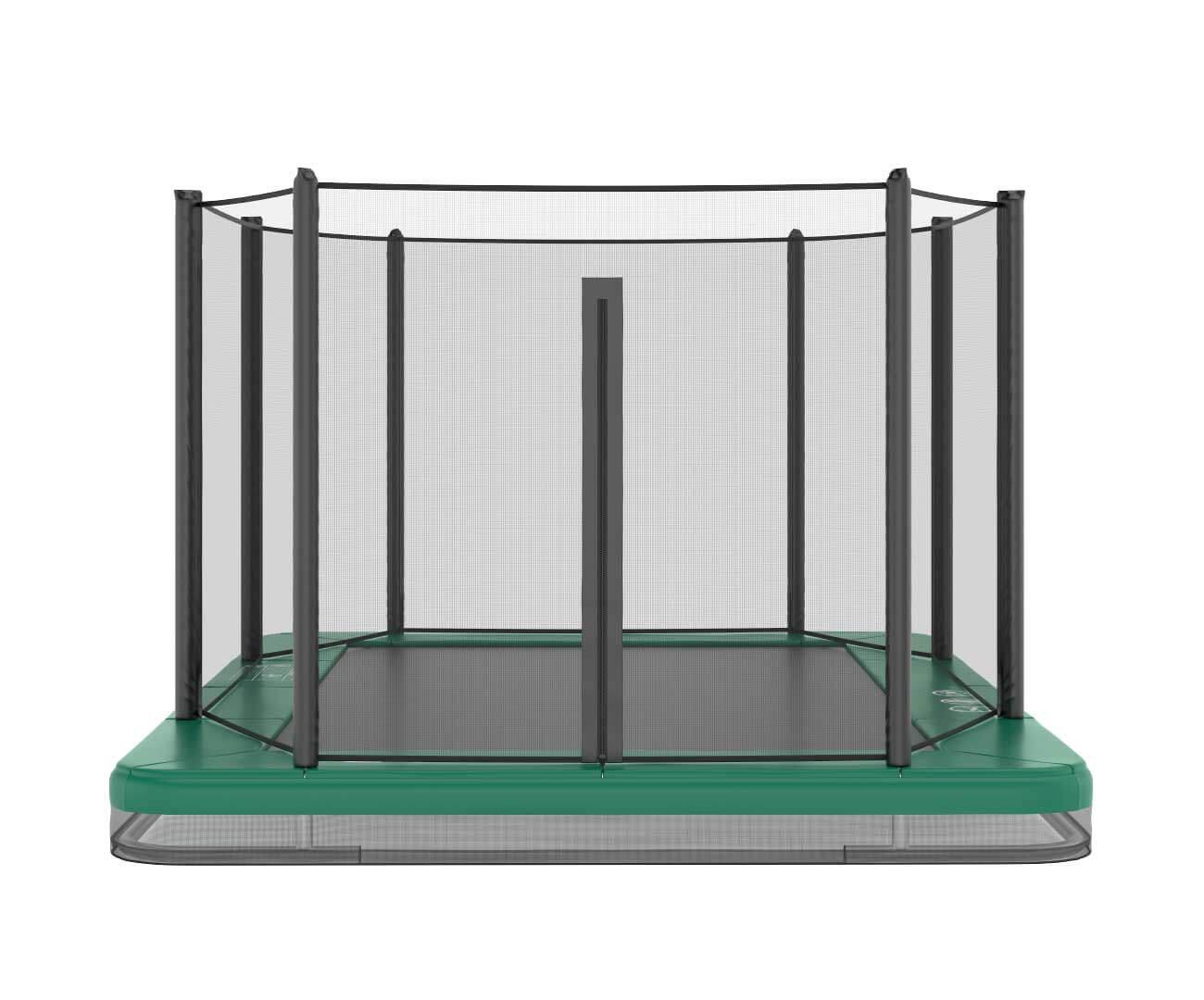 Akrobat Orbit Inground 11x8 Green safety pad/Black jumping mat