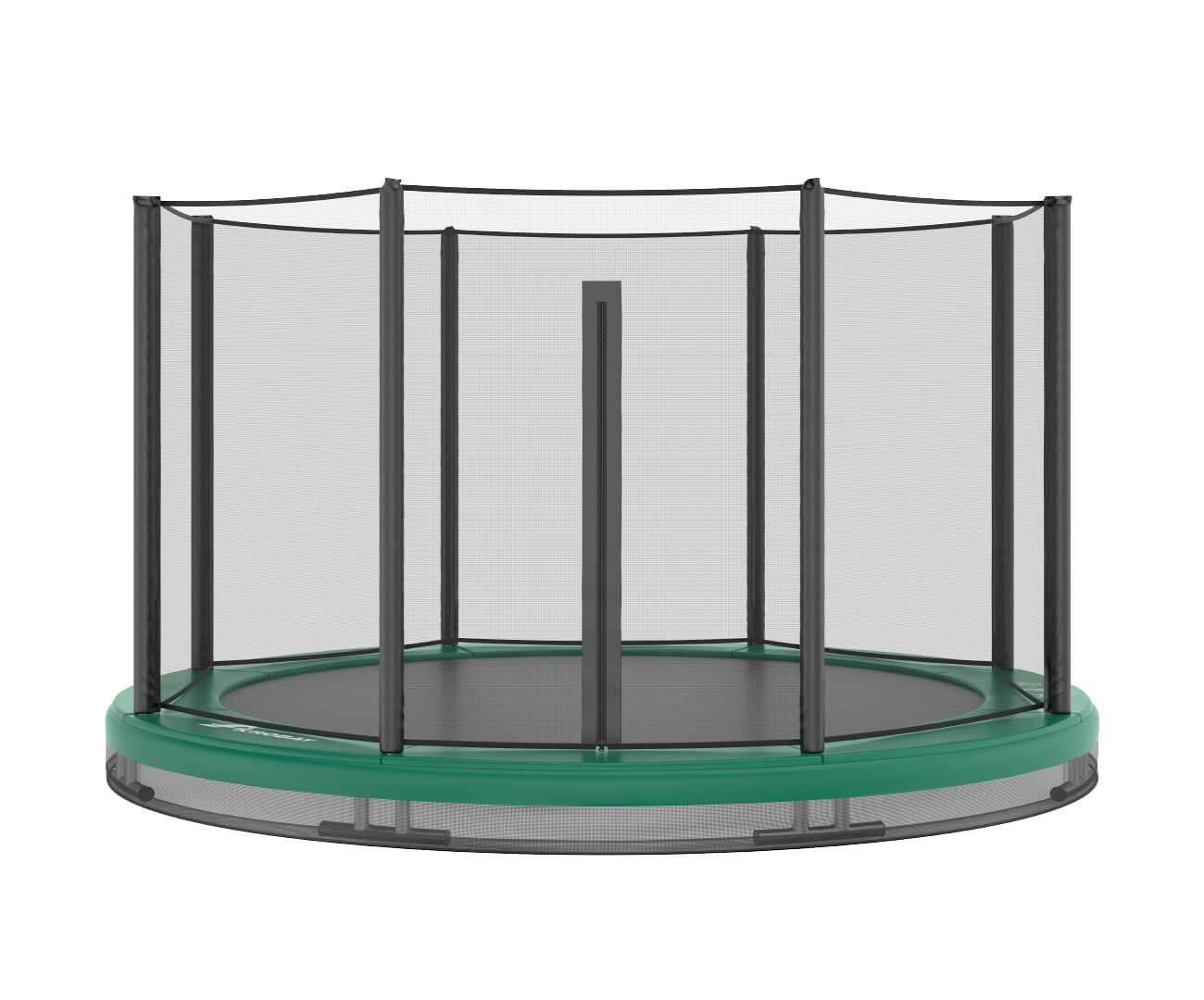 Akrobat Orbit Inground 14 Green safety pad/Black jumping mat