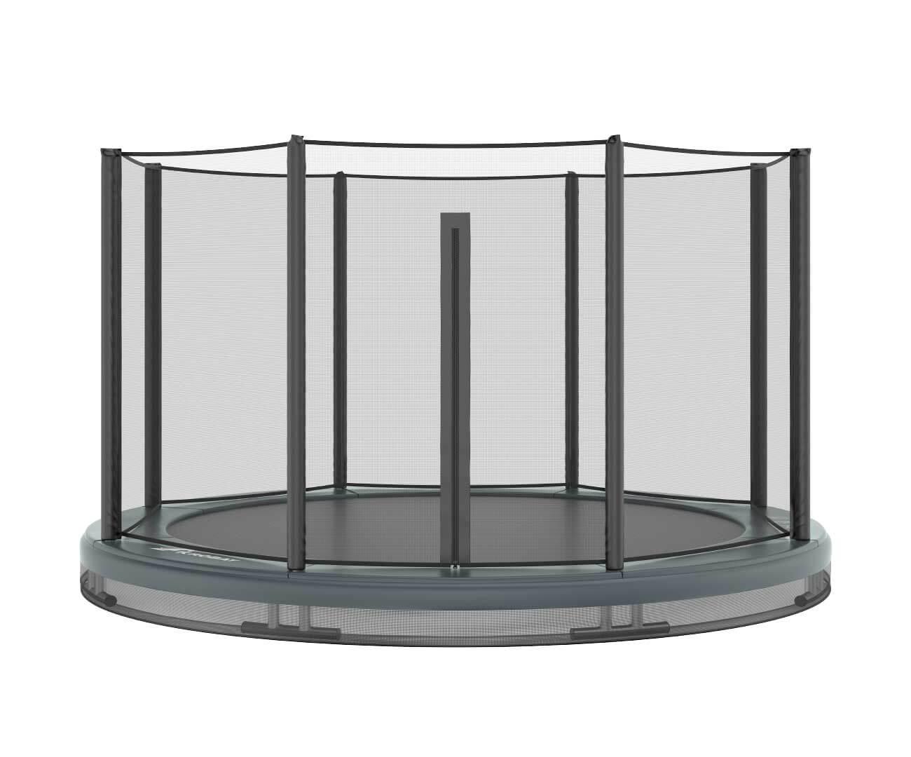 Akrobat Orbit Inground 14 Grey safety pad/Black jumping mat