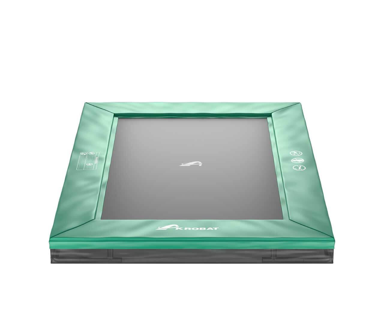 Akrobat Primus Inground 11x8 Green safety pad/Black jumping mat