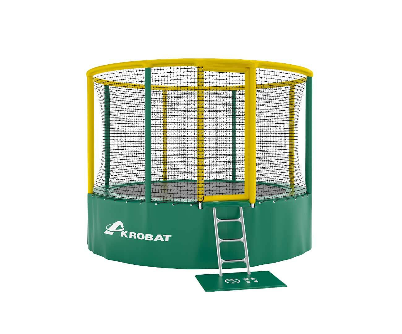 Akrobat Gallus 10 Green-yellow enclosure / Green safety pad /Black jumping mat