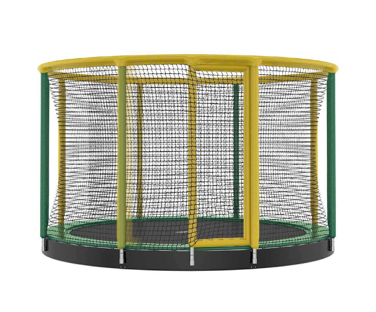 Akrobat Gallus Inground 14 Green-yellow enclosure / Green safety pad /Black jumping mat