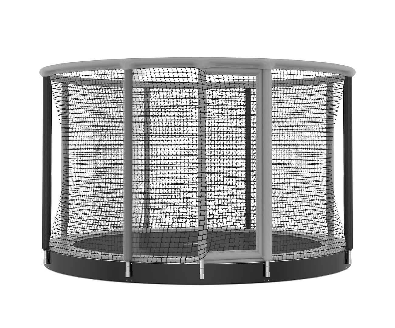 Akrobat Gallus Inground 14 Grey-black enclosure /Black safety pad/ Grey jumping mat